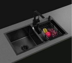 304 [ستينلسّ ستيل] [هندمد] بالوعة صنبور مطبخ غرفة حمّام شريكات سلع صحّيّة