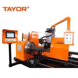 HochleistungsTayor 5 Mittellinie CNC-Plasma und Oxy-Kraftstoff Flamme-Rohr-Profil-Ausschnitt-Maschine für Stahlscherblock