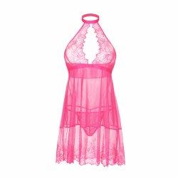 Dernière Hot Mature japonais Nightwear Choker robe transparente G String Lingerie Sexy femmes