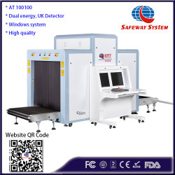 Al100100 grandes la seguridad de la máquina de inspección de rayos X para el equipaje y equipaje de análisis y Proyección adecuadas para el puerto, los aeropuertos