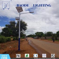 20W conduit Rue lumière solaire avec 5 m pôle d'éclairage extérieur de la lampe du capteur de mouvement