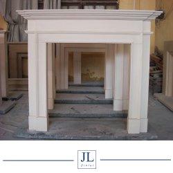 De estilo europeo puro eléctrico independiente de mármol blanco, chimenea de piedra caliza y mármol natural