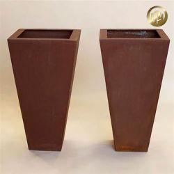Sembradora de acero Corten personalizados/planta de jardín de metal oxidado Maceta