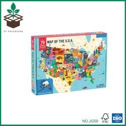 100 pezzi Bambini Giocattoli Mappa Paese Puzzle personalizzato