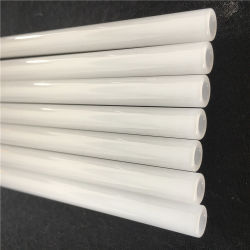 Leite de alta qualidade Tubo de vidro de quartzo branca para as Conexões do Aquecedor