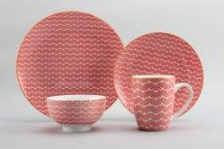 16pcs fine de la vaisselle en porcelaine pour les grossistes de tampographie ensembles avec de fines Prix pour 4 personnes