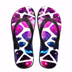 Pas In het groot Wipschakelaars voor de Vlakten Sandals van de Gift van het Af:drukken van het Embleem van EVA van het Schoeisel van de Schoenen van het Strand van de Meisjes van de Vrouwen van Mannen aan