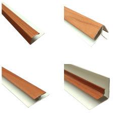 Clip en bois de teck U H coin interne de profil Externer PVC pour le plafond et d'accessoires de panneau mural