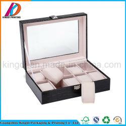 La valigia di alta qualità designa il contenitore di monili di legno con la serratura chiave