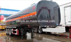 Verwarmde Vloeibare Asfalt van uitstekende kwaliteit van tri-Assen het 33.7m3/de Semi Aanhangwagen van het Bitumen met Verwarmingssysteem
