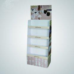 Promoción ecológica Fsdu Pop cartón Mostrar Estante para esmalte de uñas cosméticos soporte de la pantalla del suelo