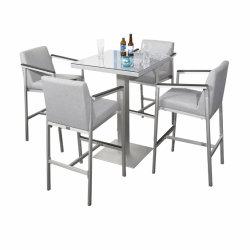 Geborsteld Aluminium Armleuning Bar High Chair Veranda Leisure Bistro Sets Tuinmeubelen