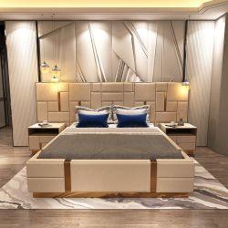 Mobilier en bois de conception personnalisée de gros de tissu chambre à coucher Meubles rembourrés en cuir