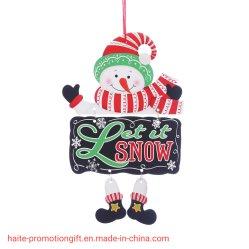 Vidro da porta de boas-vindas de papel pendente de decoração travando Santa Claus Boneco de ornamentos para pendurar