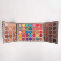 Картон 65 цветовой палитры Блестящие цветные лаки очаровательный Eyeshadow пигментные палитра теней sombras Shimmer комплект Maquillaje макияжа