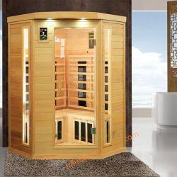 De Draagbare Houten Sauna van Freestand met de Verwarmer van de Ceramische en Voet van de Koolstof