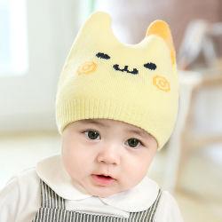Beanie Hat Bébé d'hiver promotionnel Knit Cap chapeau d'enfants avec des cornes