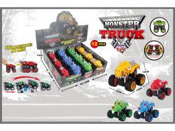 Automobile rampicante ad alta velocità impressionante 12PCS del giocattolo di attrito del doppio del camion del mostro del dinosauro 4WD