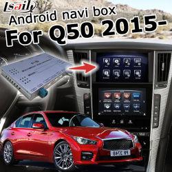 Android 4.4, 5.1 Sistema de navegación GPS de Verificación de Infiniti Q50 Q60 2015-2016 Actualización de la interfaz de video con espejo Link WiFi pantalla Fundido