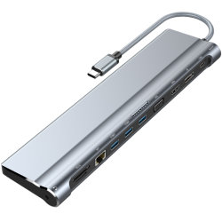 2 порта USB 3.1 Gen 1 портов тип C адаптером ступицы с максимальной мощностью 100 Вт Passthrough зарядка аккумуляторной батареи