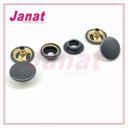 Botão de encaixe metálico de 15mm com 201 em 3 partes, cor azul-acinzentado escuro, pressione o botão de retenção de calças de ganga