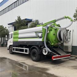 4X2 largement utilisé prix d'usine Dongfeng 10000 litres 190HP vide du réservoir d'aspiration des eaux usées chariot fécale camion-citerne d'aspiration