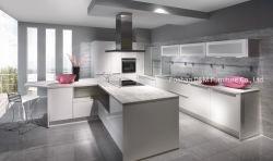 Haute brillance Maison moderne en bois massif de la laque de la famille des armoires de cuisine Mobilier Modulaire (DM1015)