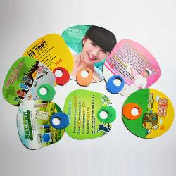 Ventilatore di plastica promozionale su ordinazione della mano di vendita calda