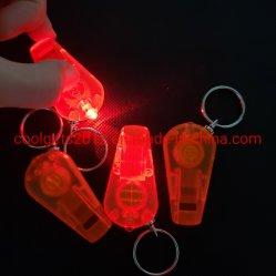 ترقية صفّارة بلاستيكيّة [لد] خفيفة [كي رينغ] /Cheap [لد] [كي شين] مع عادة علامة تجاريّة