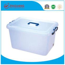 Caja de almacenamiento de plástico transparente para coser los accesorios, 4L Contenedor de alimentos