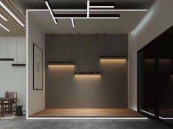 L'éclairage linéaire à LED - 4FT lustre acrylique d'éclairage de l'aluminium 40W, 4000K, avec réglage de la pendaison de la lumière, blanc/noir/argent