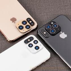 iPhone X Xsの最大金属の後部レンズの保護リングのカメラレンズスクリーンの新しいiPhone 11のプロ携帯電話へのガラス保護装置の変更のため