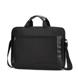 Il sacchetto di nylon impermeabile del computer portatile del calcolatore per problemi commerciali di 15.6 pollici per MacBook Pro con la cinghia di spalla registrabile e la chiusura lampo intascano molto lo scompartimento per gli uomini