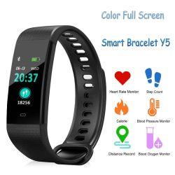カメラのBluetoothの遠隔腕時計が付いている多彩でスマートなブレスレットY5の心拍数の血圧の血の酸素のモニタリングの腕時計の携帯電話