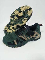 Fournisseur chinois de l'Armée Steel Toe Camouflage vert chaussures de sécurité industrielle
