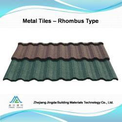 Materiale da costruzione rivestito delle mattonelle di tetto del metallo della pietra moderna di disegno della villa