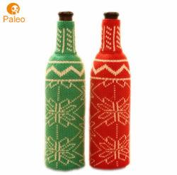 Garrafa de vinho tinto garrafa de cerveja de natal decoração de malha suéter garrafa de vinho de Natal