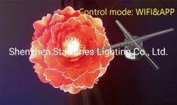 결혼식 훈장 빛 크리스마스 훈장 점화를 광고하는 자필 전시 360 홀로그램 팬 5 년 보장 5K 3D 전화 APP 통제 LED