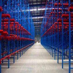 Solutions de stockage de l'entrepôt industriel lecteur dans la palette Shelvings