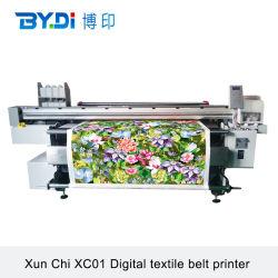 ベルトシステム印字機が付いている綿織物のインクジェットデジタル織物プリンター絹ファブリックプリンター