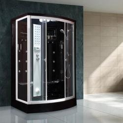 Nouveau design noir douche salle de vapeur