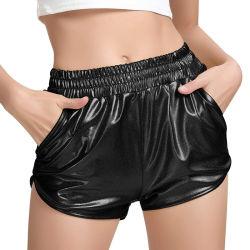 Women's Wear métal brillant Yoga éblouissante Shorts