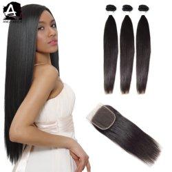 100 Angelbella Vigrin indien d'un sèche cheveux de matériel en agitant avec fermeture de la Dentelle 4X4