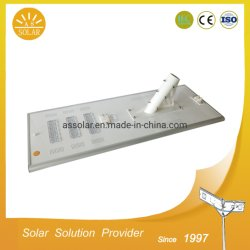 High Bright 6m 30W Solar LED luz de rua com a bateria no interior