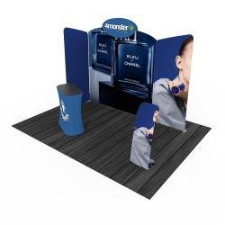 Publicidade de dobragem equipamento grossista 3*3 Cabine de exposições de tecido de tensão Exibir Trade Show Booth