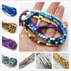 Prix bon marché de l'Hématite Cube Multi Couleur Gemstone Beads pour bracelets collier