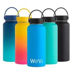 La bevanda larga della bocca di Wevi mette in mostra liberamente la bottiglia di acqua del Thermos isolata vuoto doppio dell'acciaio inossidabile delle bottiglie con il coperchio su ordinazione di marchio BPA