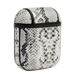 Étui en cuir haut vente OEM pu couvrir la peau de protection de chargement compatible Pattern cas pour les Airpods