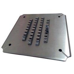 32 portas Hfbr4503 Conector de Fibra Ótica Gabarito de polimento de suporte de fixação