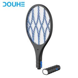 Controllo dei parassiti ricaricabile ad alta tensione che uccide la racchetta elettrica a un solo strato della zanzara dell'assassino dello Swatter di mosca di Zapper dell'errore di programma della mosca da 4000 volt (DH-WP01L)